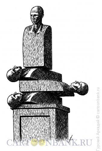 Карикатура: памятник-штабель, Гурский Аркадий