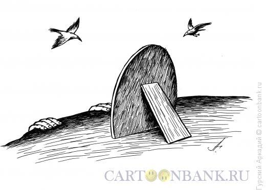 Карикатура: зеркало у обрыва, Гурский Аркадий