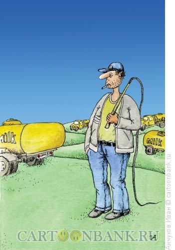 Карикатура: Пастух, Анчуков Иван