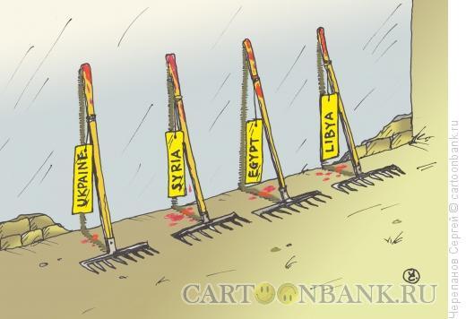 Карикатура: Те же грабли, Черепанов Сергей