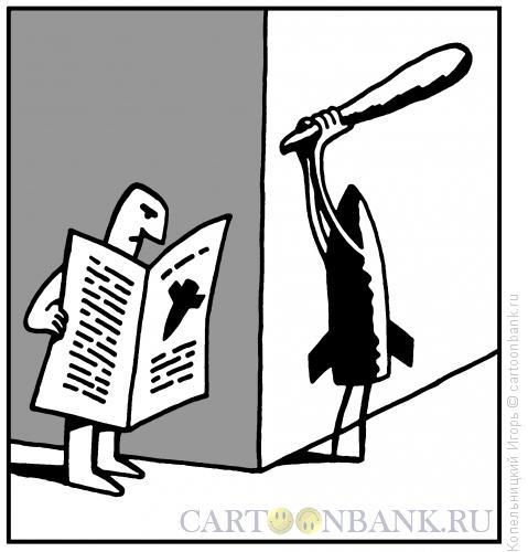 Карикатура: Ракета с дубиной, Копельницкий Игорь