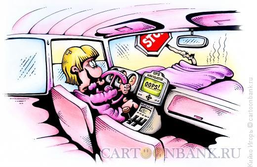 Карикатура: Блондинка за рулем, Кийко Игорь