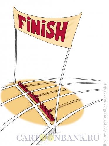 Карикатура: Финишные грабли, Шмидт Александр