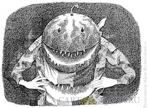 Карикатура: Голова-арбуз, Валиахметов Марат