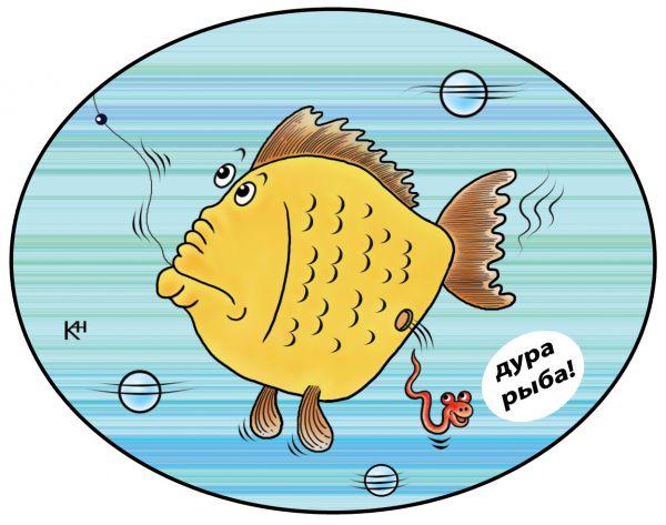 Карикатура: Дура рыба, Александр Кузнецов