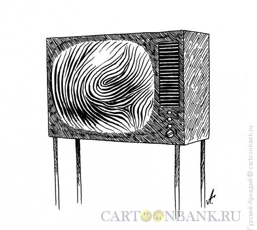 Карикатура: Телевизор, Гурский Аркадий