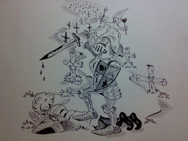 Карикатура: Во имя любви., Константин Мухоморов