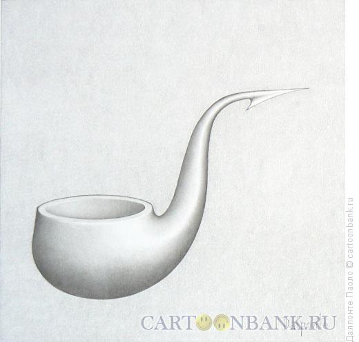 Карикатура: трубка с рыболовным крючком, Далпонте Паоло