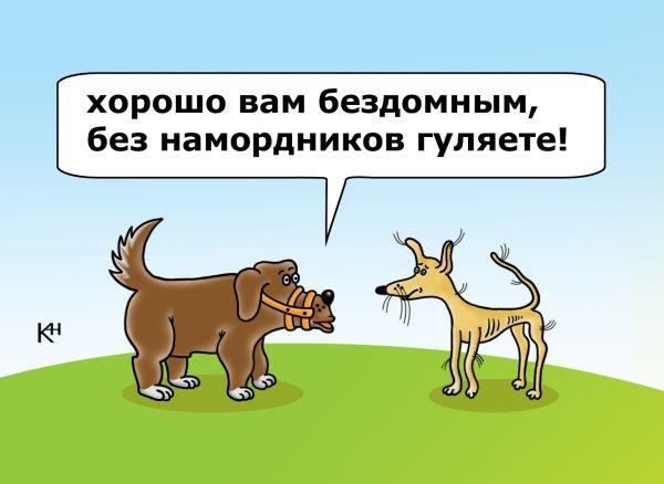Карикатура: Недовольный пес, Александр Кузнецов