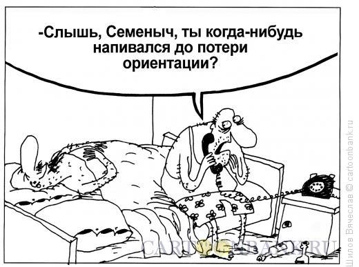Карикатура: Потеря ориентации, Шилов Вячеслав