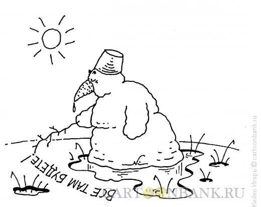 Карикатура: Снеговик-философ, Кийко Игорь