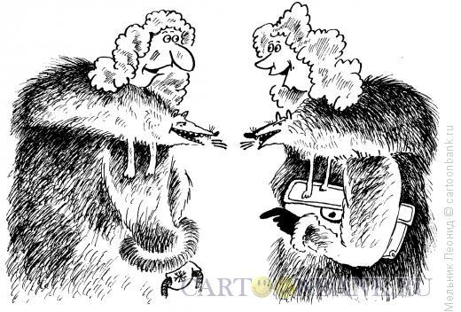 Карикатура: Милый разговор, Мельник Леонид