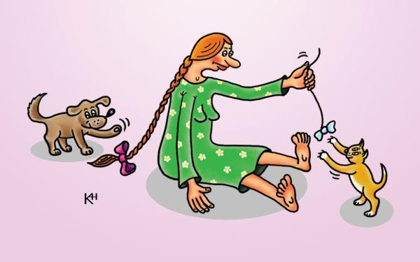 Карикатура: Веселая семейка, Александр Кузнецов