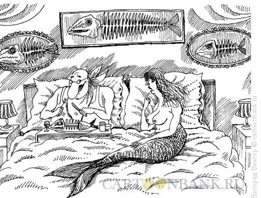 Карикатура: Эротический завтрак в постель, Богорад Виктор