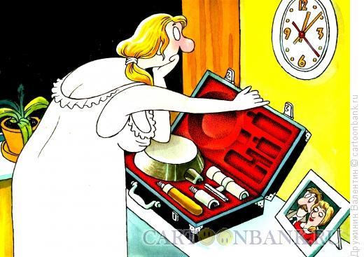 Карикатура: Подготовка к встрече, Дружинин Валентин