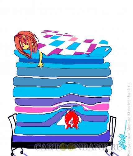 Карикатура: Принцесса на будильнике, Бондаренко Марина