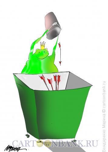 Карикатура: Ведро, Стрелы, Мусор., Бондаренко Марина