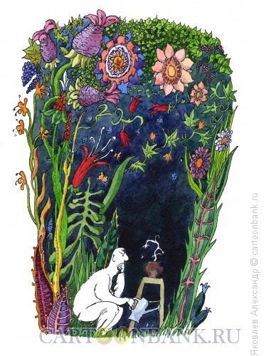 Карикатура: Цветок, Яковлев Александр