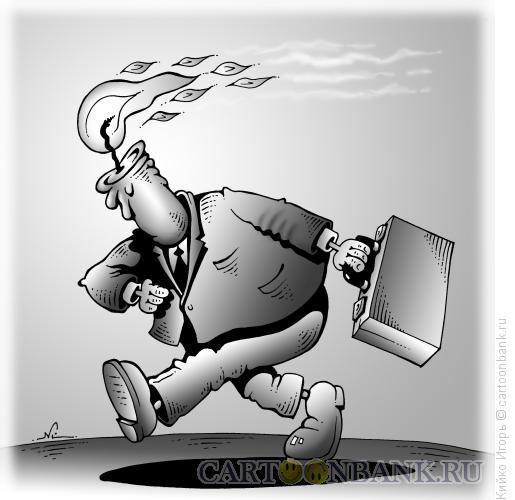 Карикатура: Гореть на работе, Кийко Игорь