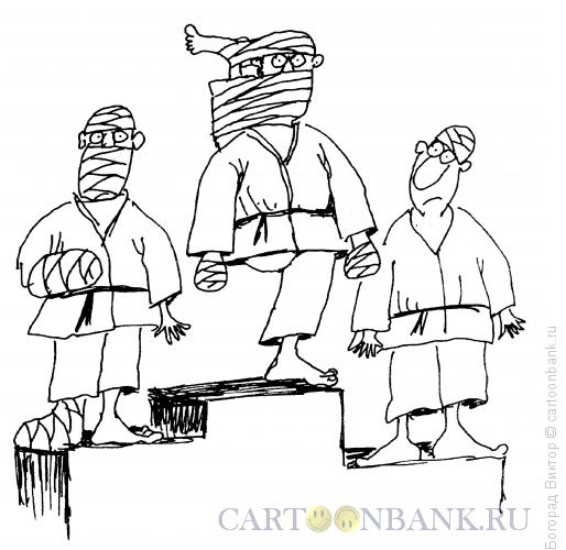 Карикатура: Победитель-каратист, Богорад Виктор
