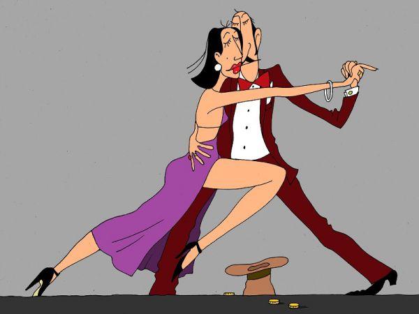 Карикатура: танго, михаил ларичев