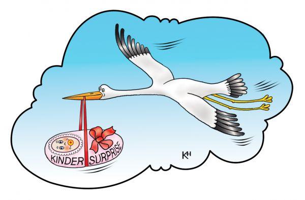 Карикатура: Аист, Александр Кузнецов