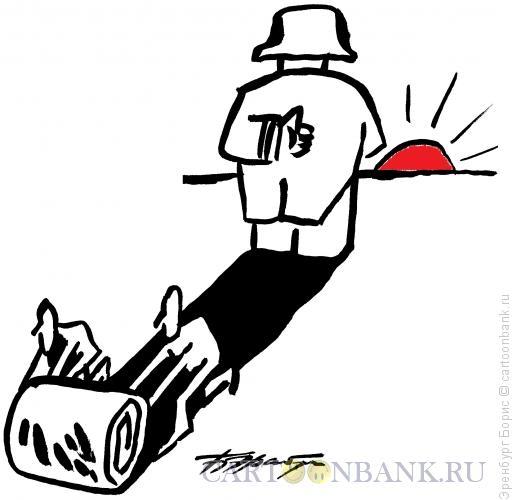 Карикатура: на закате, Эренбург Борис