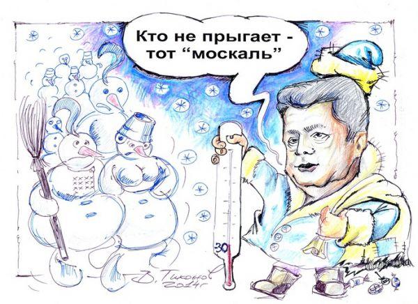 Карикатура: Предновогодние учения, Владимир Тихонов
