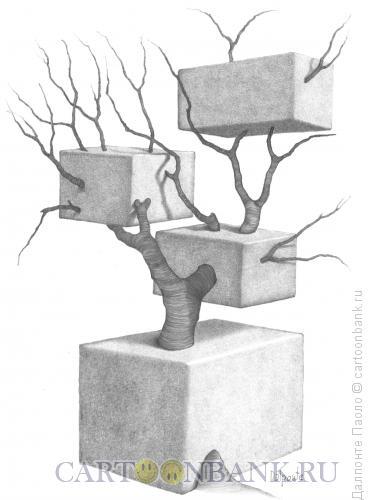 Карикатура: Дерево и бетон, Далпонте Паоло