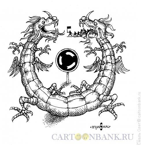 Карикатура: Есть у революции начало..., Смаль Олег