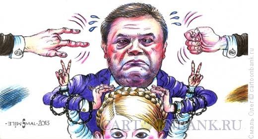 Карикатура: Янукович и Тимошенко, Смаль Олег