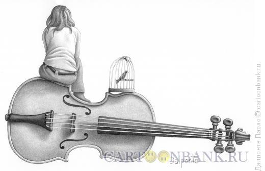 Карикатура: музыкальная пауза, Далпонте Паоло