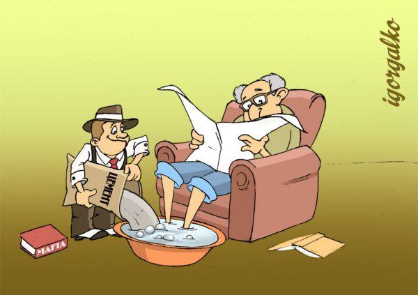 Карикатура: Маленький мафиози
