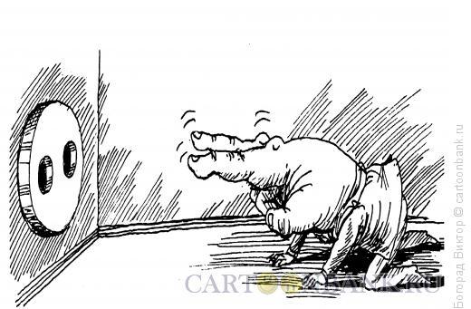 Карикатура: Пальцы и розетка, Богорад Виктор