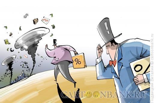 Карикатура: Кризисная погода, Подвицкий Виталий