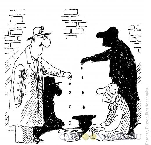 Карикатура: Тени, Богорад Виктор