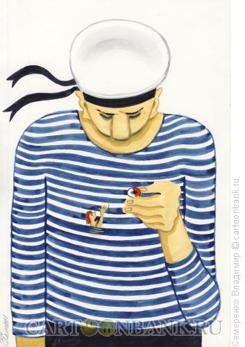 Карикатура: Спасение утопающей, Семеренко Владимир