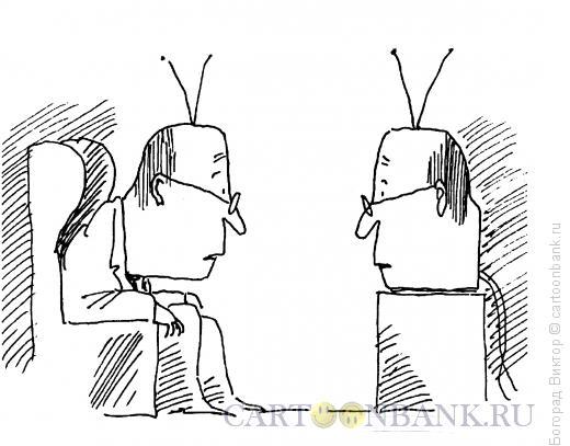 Карикатура: Две башки, Богорад Виктор
