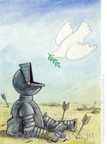 Карикатура: Голубь мира, Семеренко Владимир
