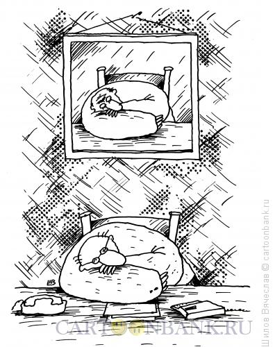 Карикатура: Шеф-бездельник, Шилов Вячеслав