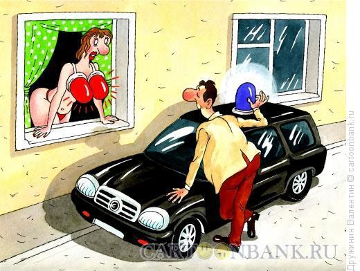 Карикатура: Груди сигнал, Дружинин Валентин