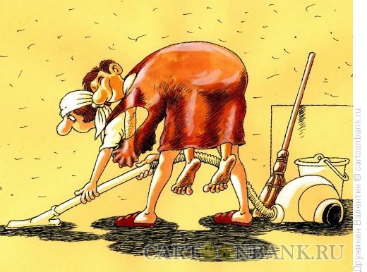 Карикатура: На спине, Дружинин Валентин