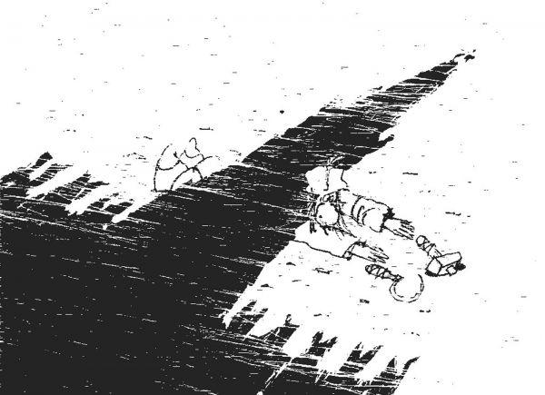 Карикатура: Тень
