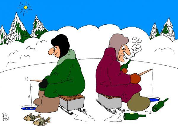 Карикатура: Завязал, Валерий Каненков