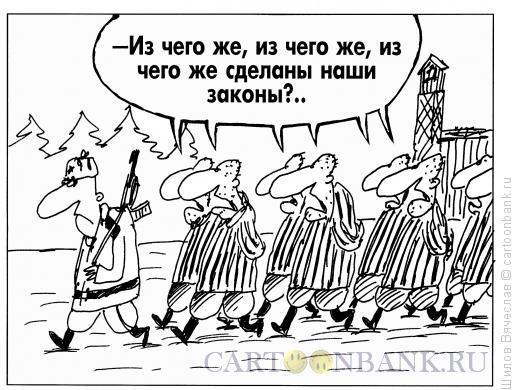 Карикатура: Наши законы, Шилов Вячеслав