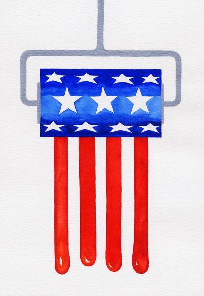 Карикатура: Американский валик, Ignat