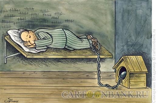 Карикатура: В камере, Семеренко Владимир