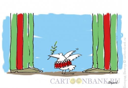 Карикатура: Голубь мира, Богорад Виктор