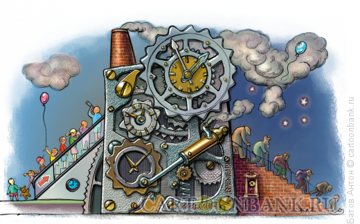 Карикатура: Машина времени, Батов Антон