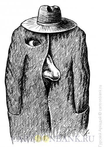 Карикатура: нос, Гурский Аркадий